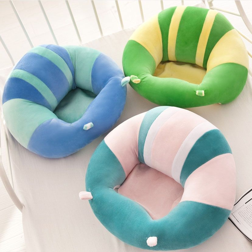 Infant Toddler Baby Support Seat Soft Cotton Travel Car Seat Sofa Chair Pillow Cushion Learning To Sit Chair For Training Baby