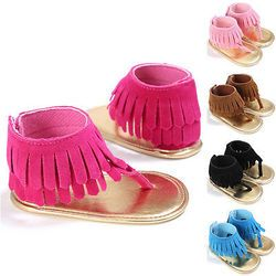 First Walkers Baby Kids Pram Crib Summer First Walkers Fringe Tassel Shoes Infant
