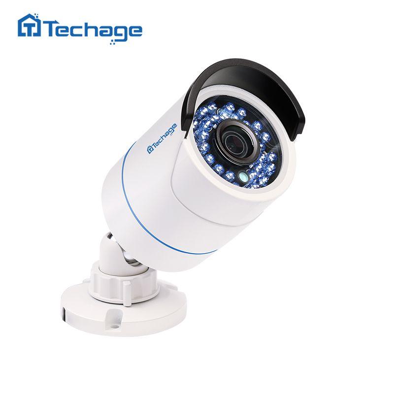 Techage Home Security 720 p 960 p 1080 p 48 v POE Caméra Intérieur Extérieur Étanche 2MP P2P ONVIF Vidéo surveillance CCTV Caméra IP