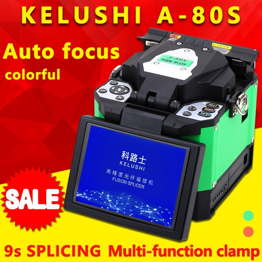 FTTH Automatic Optical Fiber Fusion Splicer Machine Electrode A-80S Fiber Optic Splicers Welding Splicing Machine