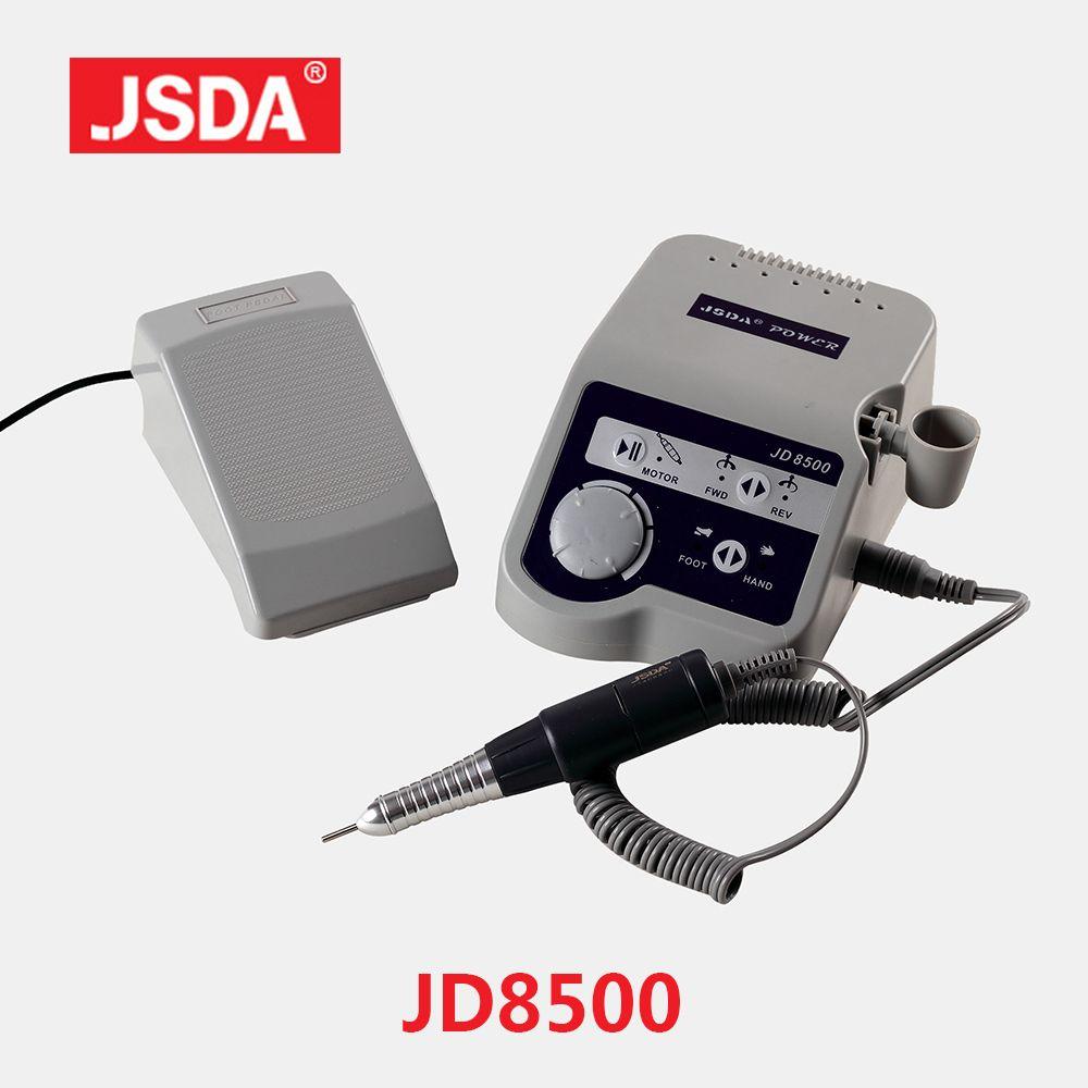 Véritable JSDA JD8500 65 W électrique ongles perceuses professionnel manucure fichier bits pédicure outils Machine ongles Art équipement 35000 tr/min