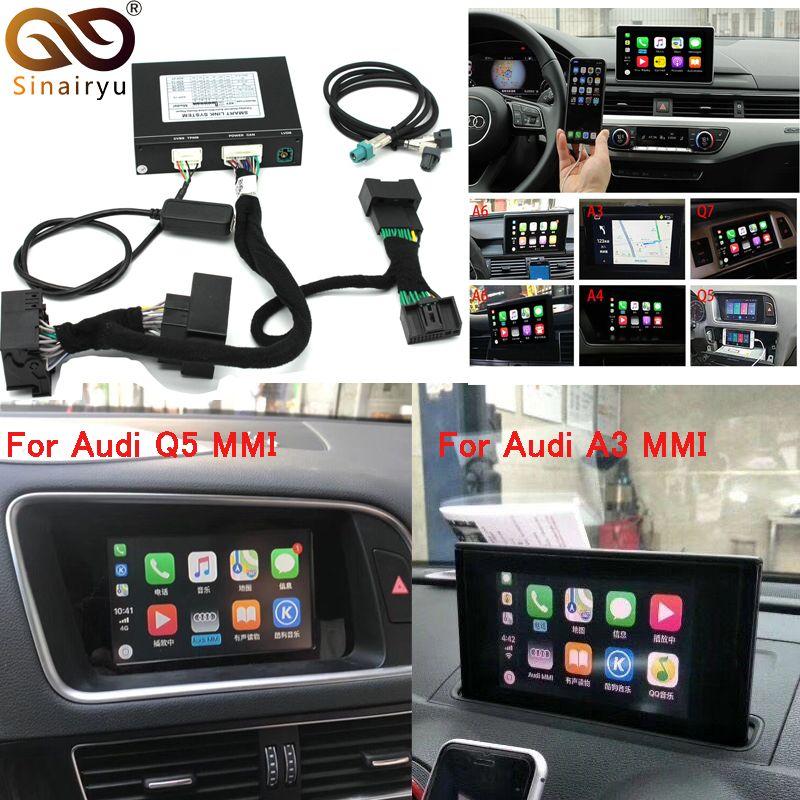 Video Interface mit Apple Carplay Android Auto für A7 A3 Q3 A4 A6 A5 B9 Q5 Q7 Original Bildschirm Upgrade MMI system iOS AirPlay