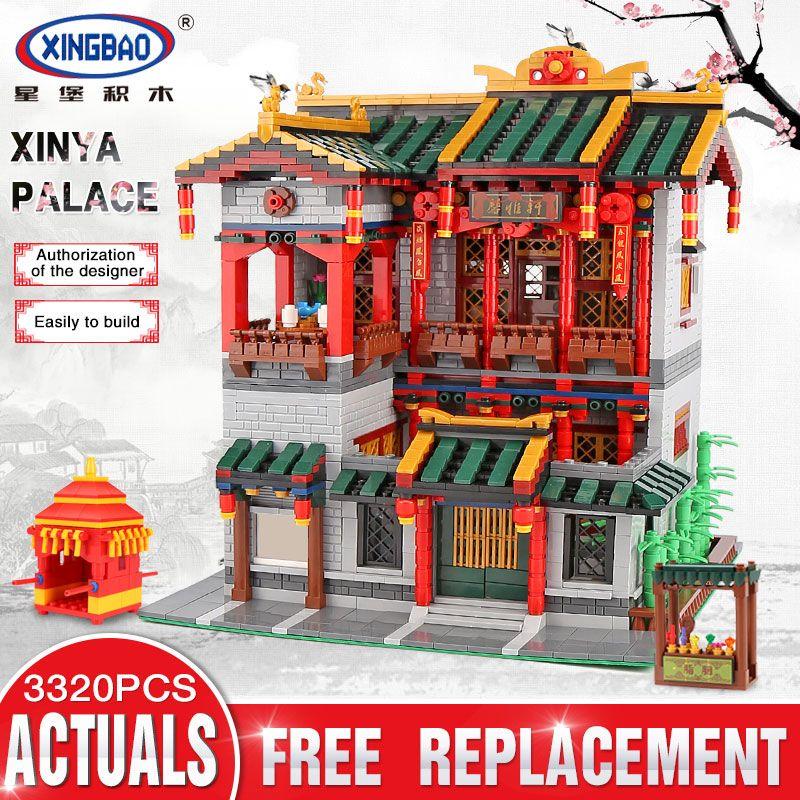 XingBao 01003 3320Pcs Creative Chinese Style The XINYA Palace Set Educational Building Blocks Bricks Toys For Kids Model Gifts