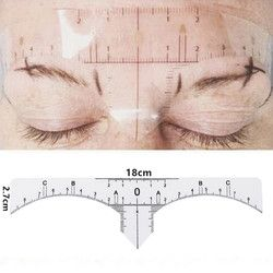 10pcs Tattoo accesories Disposable Microblading Makeup Brow Measure Eyebrow Guide Ruler Permanent Tools q70929