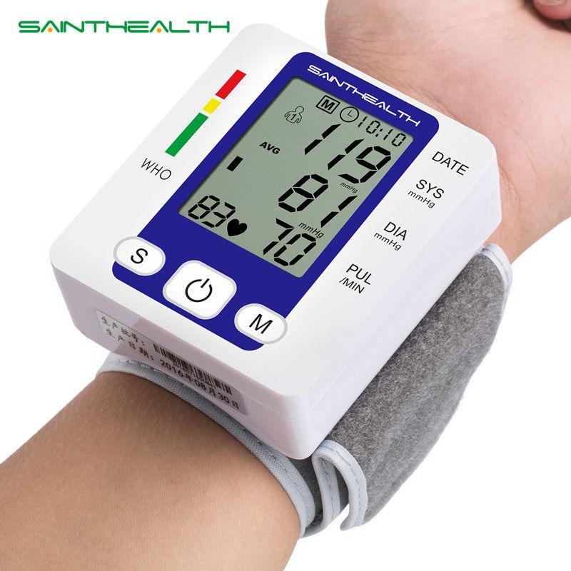 Electric Wrist Blood Pressure Monitor Portable tonometer health care bp Digital Blood Pressure Monitor meters sphygmomanometer