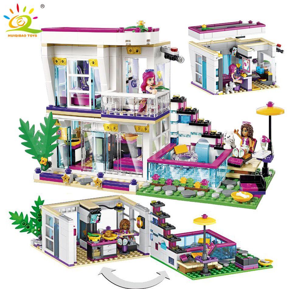 760 pièces Pop Star Livi maison bloc de construction ami Compatible pour les filles chiffres briques jouets éducatifs pour les enfants