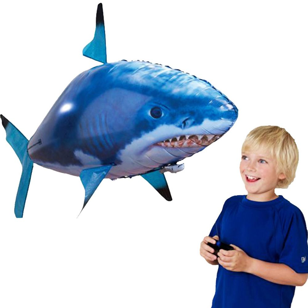 RC Air Fly Fish <font><b>Shark</b></font> Toys RC <font><b>Shark</b></font> Clown Fish Balloons Nemo Inflatable with Helium Plane Toy Party For Kids christmas Gift