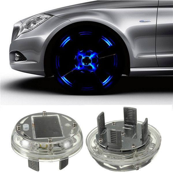 4 Modes 12 LED Car Auto Solar Energy Flash Wheel Tire Rim Light Lamp Decoration 1999-2013