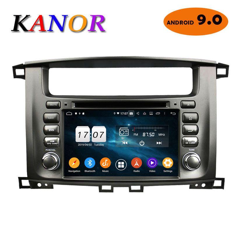 KANOR Android 9.0 Octa Core 2 Din Autoradio Für Toyota Land Cruiser 100 Auto Radio Audio Video Player 2 Din GPS Multimedia