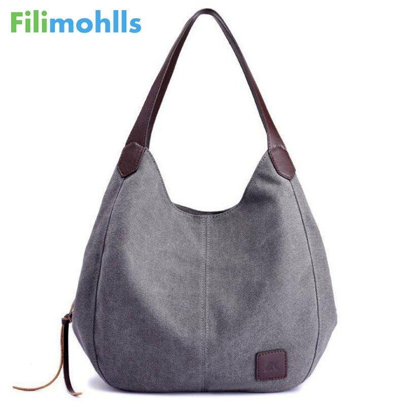 2018 Hot Fashion Women's <font><b>Handbag</b></font> Cute Girl Tote Bag Lady Canvas Hobos Shoulder Bag Female Large Capacity Small Leisure Bag S1148