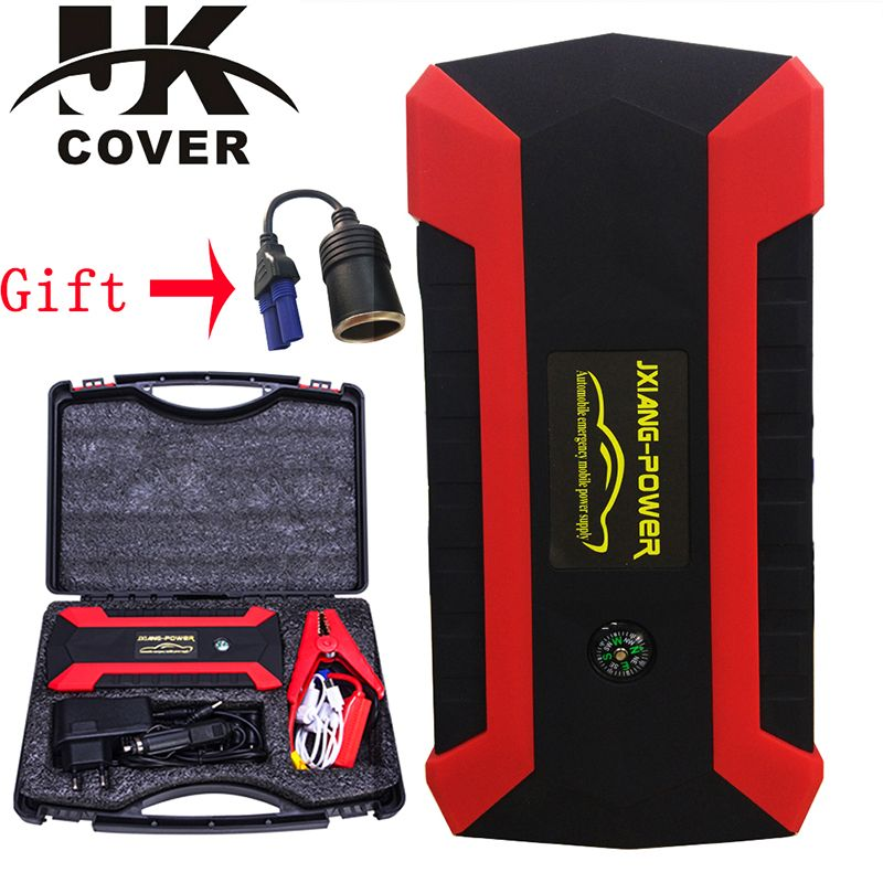 JKCOVER 68000mWh 800A Car Jump Starter for Petrol Car Battery Charger Emergency 60C Discharge Auto Starting High Power Pack Bank