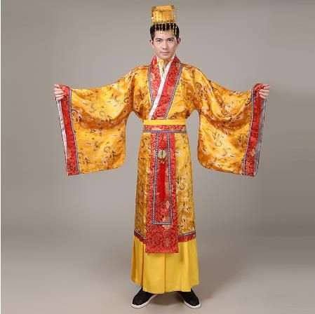 ancient chinese hanfu costume men clothing traditional China tang suit oriental Chinese emperor Cloth include emperor hat