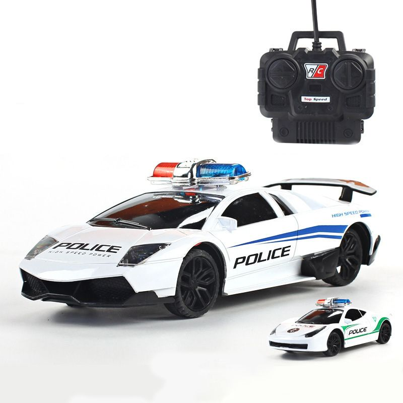 Electric Police RC cars Model 4 channels Remote Control Car Toys for boys Racing Car machines on the remote control 1:24