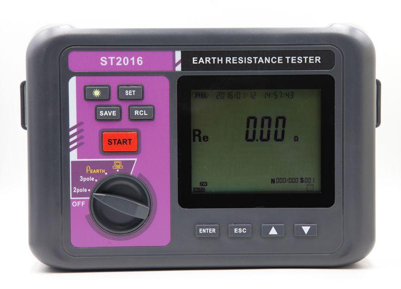 Auto Range Digital Earth Resistance Resistivity Meter Intelligent LCD 3 Pole Ground Resistance Meter Soil Resistivity Tester