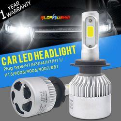 Авто свет H7 светодиодный H4 H1 H3 H8 H11 H13 9005 9006 9007 881 светодиодный Фары для автомобиля 6500 К 72 вт 8000lm автомобилей часть лампа