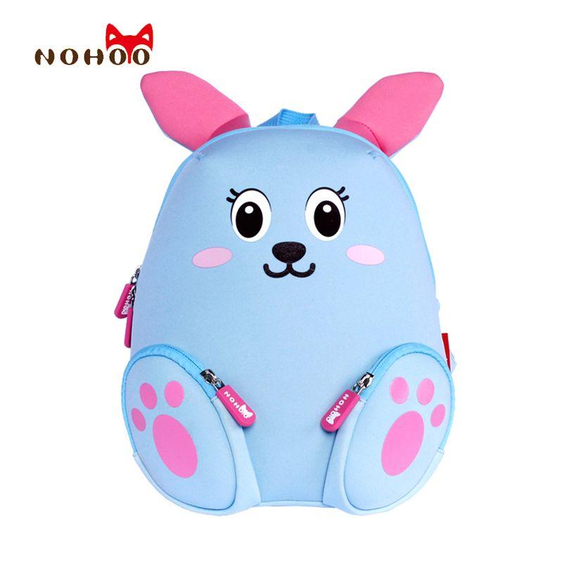 Nohoo маленьких детей Детская Школьные сумки Рюкзаки 3D мультфильм кролик маленький рюкзак одежда для малышей Обувь для девочек школа для От 2 ...