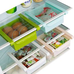 Ecológico multifunción cocina Rack de almacenamiento frigorífico nevera congelador estante de cajones organizador ahorro de espacio