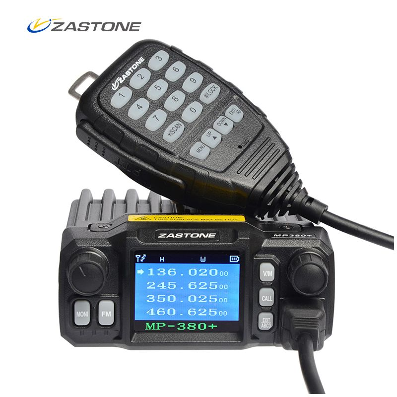 Zastone MP380+ Mini Mobile Radio Car Transceiver VHF UHF 25W Dual bands Quad-standby 200CH Walkie Talkie Car Radio Station