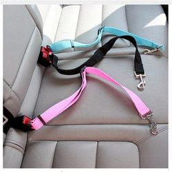 1pc Nylon Pets Puppy Seat Lead Leash Dog Harness Vehicle Seatbelt Pet Supplies Travel Clip Adjustable Pet Dog Safety Seat Belt