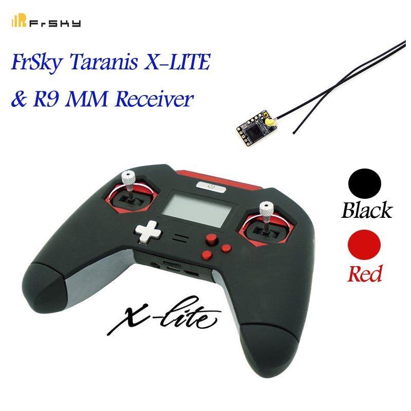 FrSky Taranis X-LITE/X-Lite Pro 2,4 GHz ACCST 16CH RC Sender Fernbedienung W/R9 MM empfänger Rot Schwarz Für RC Drone Modelle