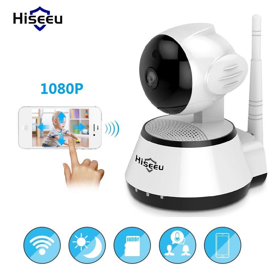 Infrared wi-fi <font><b>cctv</b></font> 720P 1080P IP Camera Wireless Bayby Monitor 32G Memory Home Security IRCut Vision Video Surveillance Hiseeu