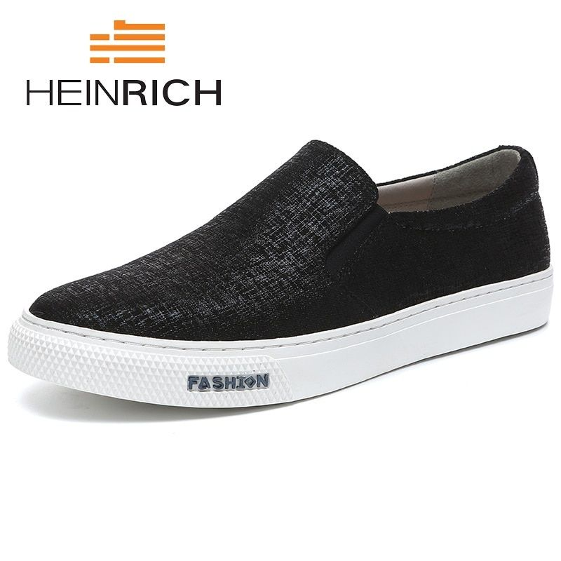 HEINRICH 2018 New Fashion Canvas Shoes Men High Quality Breathable Shoes Luxury Brand Top Fashion Male Flat Shoes Deportivas