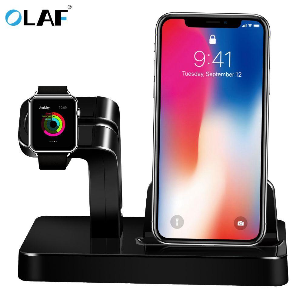 Pour Apple Montre Chargeur Station D'accueil De Charge Support Titulaire Chargeur Stand berceau pour iPhone X 8 Plus 7 6 S SE 5S Dock Station