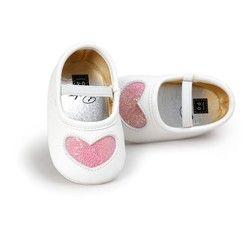 2017 otoño primavera moda Zapatos nuevo encantador de la PU del bebé inferior suave princesa Zapatos 0-18 m