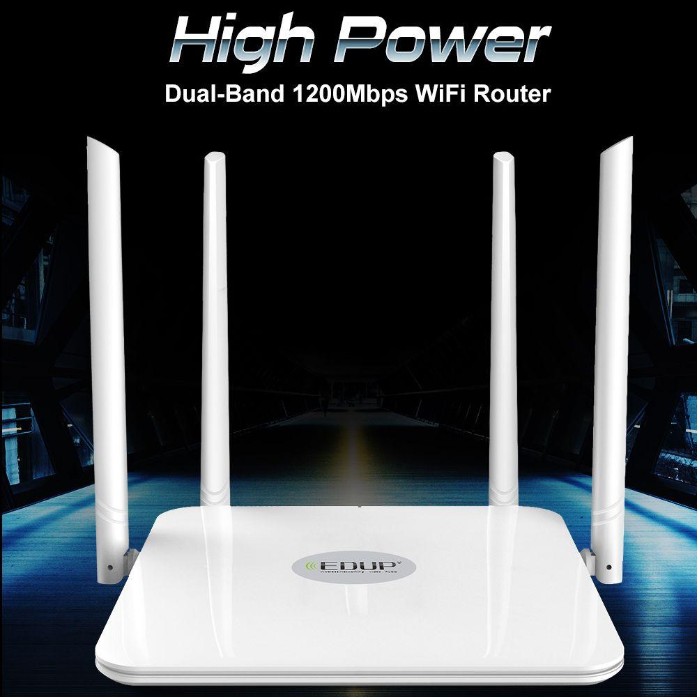 EDUP 5ghz AC 1200Mbps Wireless WiFi Router English version High Power Dual Band 2.4/5ghz WiFi Range Extender Wi-Fi Amplifier