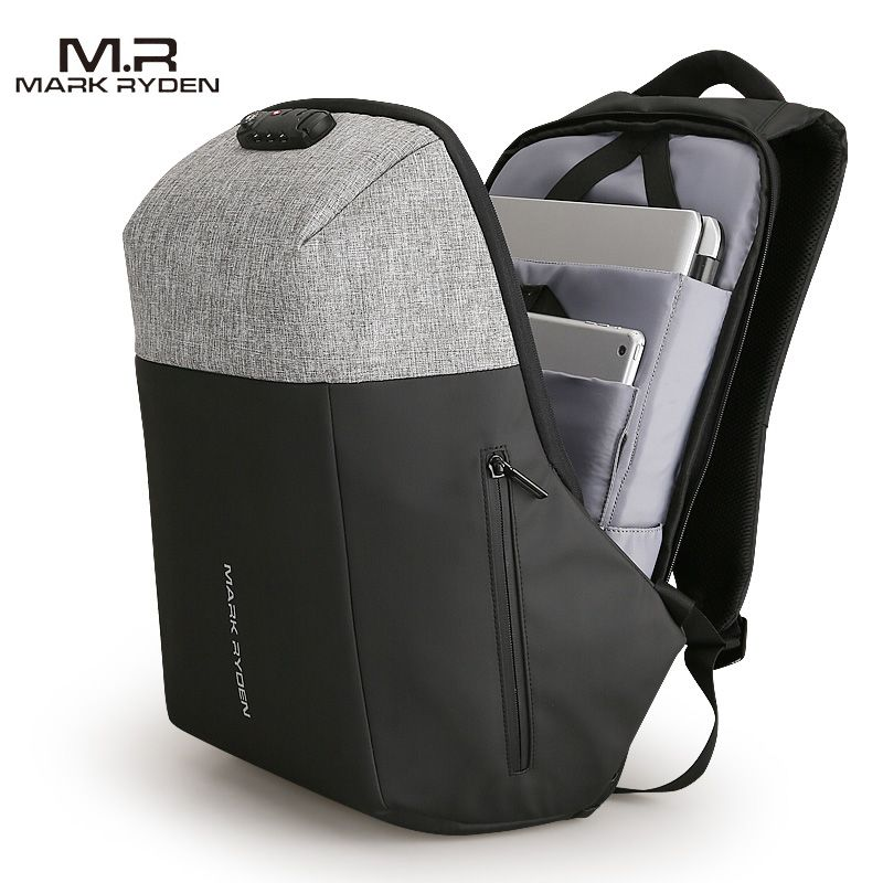 Markryden New Anti-thief Design USB Recharging Laptop Backpack TSA Customs Lock Design Backpack Men Fashion Travel Backpack