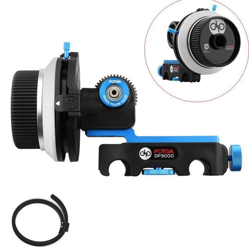FOTGA DP3000 DSLR Quick Release Clamp A/B S'arrête Follow Focus fit pour 15mm Rod Rig pour canon sony caméras