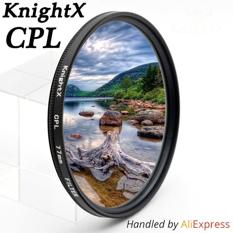 KnightX 49mm 52mm 55mm 58mm 67mm 77mm cpl Filtre pour Canon Nikon D5300 D5500 DSLR caméra Lentilles lentille accessoires d5100 d3300 CPL