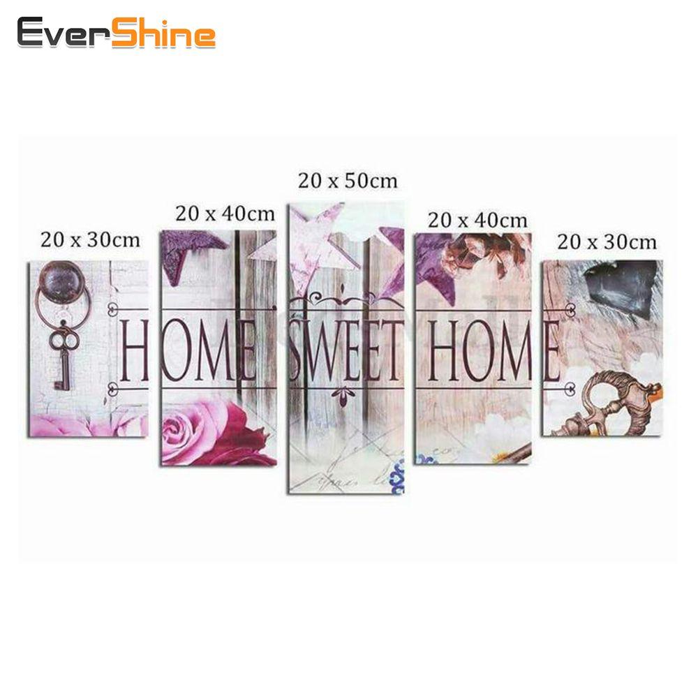 EverShine, diamant broderie fleur pleine carré diamant peinture point de croix multi-image strass diamant mosaïque