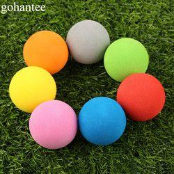20pcs EVA Foam Golf Balls Soft Sponge Golf Monochrome Balls for Outdoor Golf Practice Balls for Golf/Tennis Training Solid Color