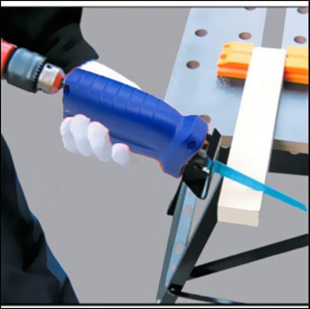 Milda 2018 nouveaux accessoires d'outils électriques scie alternative métal coupe bois outil de coupe perceuse électrique accessoire avec 3 lames