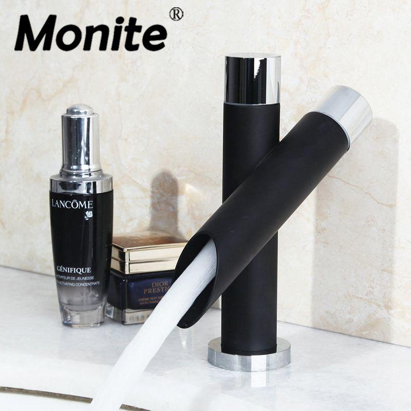 e-pak torneira Basin Faucet Bathroom Black Faucet Painting Finish Basin Sink Tap Mixer Hot & Cold Water Faucet