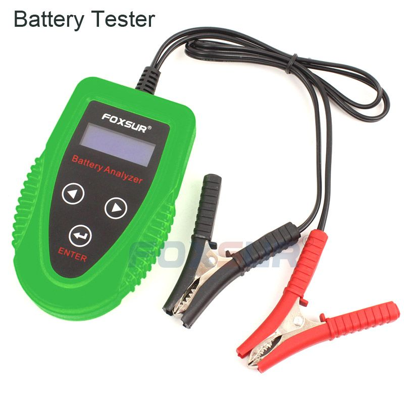 FOXSUR 12 V autobatterie tester Auto Batterie Analysieren Auto Ladung Diagnose werkzeug Gel AGM NASS CA SLA Batterie CCA IR SOH Scanner