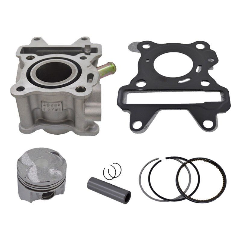 Motorcycle 38mm Bore Cylinder Piston Ring Gasket Kit for Yamaha MBK Aerox Neos Neo's Ovetto Giggle 50 50cc 4 Stroke