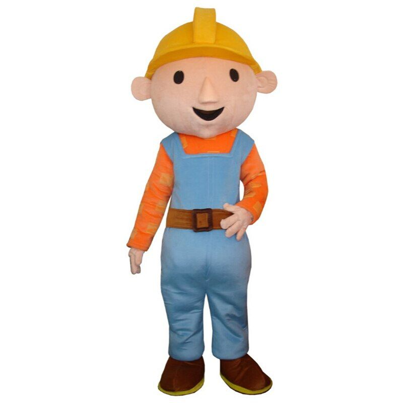 Bob the Builder clothes adult mascot costume for Halloween party