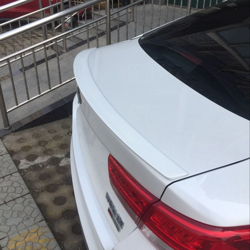 For Kia K5 Optima 2016 ABS Plastic Material Unpainted Color Rear Trunk Lip Boot Wing  Primer Rear Roof Spoiler 1Pcs Car Styling