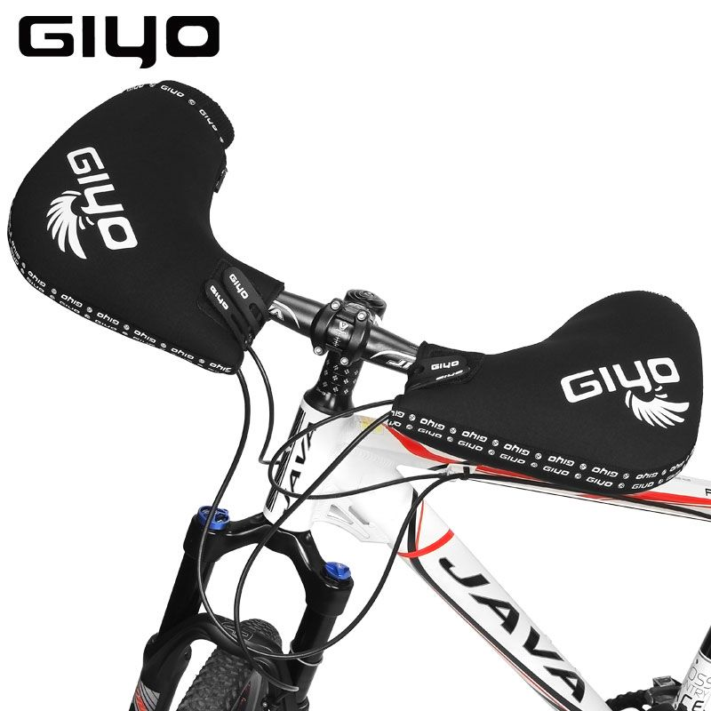 GIYO MTB Road Bike Handlebar Gloves Cycling Men Women Flat Drop Bar Gloves Hand Muffs Bike Mittens Winter Cycling Bicycle Gloves