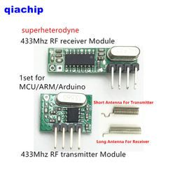 1 set RF module 433 Mhz superheterodyne receiver and transmitter kit with antenna For Arduino uno Diy kits 433mhz Remote control