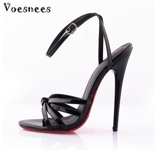 Model Catwalk Shoes 2017 Fashion Plus Size 36-44 Summer Sexy Ultra-high Heels 14CM Fine With Patent Leather Fun Shoes