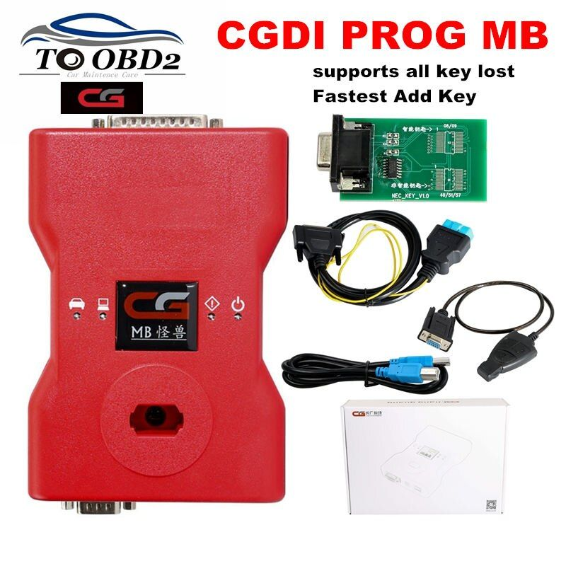CGDI Prog MB For Benz Support All Key Lost Fastest Add Key With ELV Adapter&Simulator&AC Adapter&EIS ELV Original CGDI For Benz