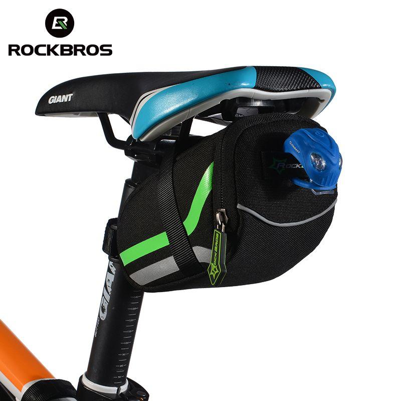ROCKBROS Outdoor Radfahren Mountainbike Rücksitz Fahrrad Hinten Tasche Nylon Bike Sattel Tasche Fahrrad Zubehör Schwanz Beutel Paket