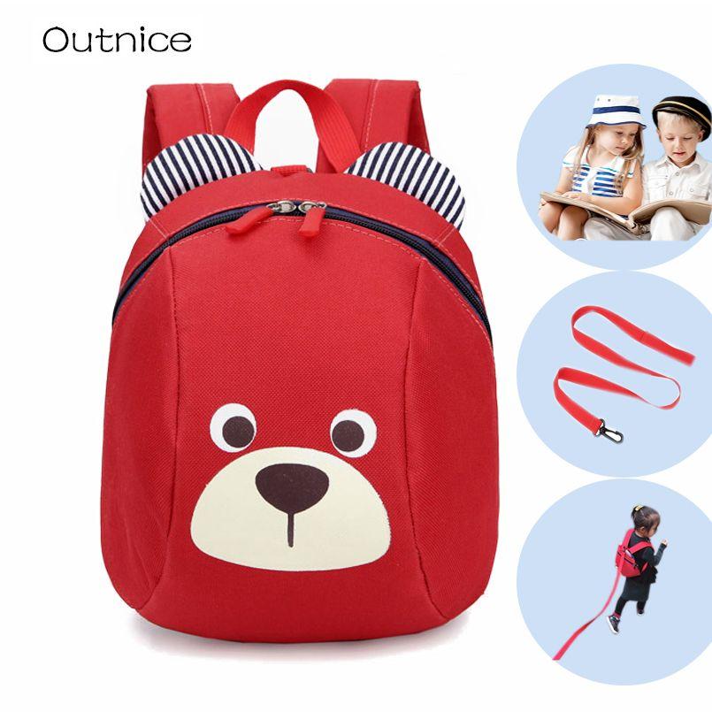 Sac à dos Anti-perte pour enfants de 1 à 3 ans sac à dos pour enfants mignon animal chien sacs à dos pour enfants sac d'école de maternelle mochila escolar