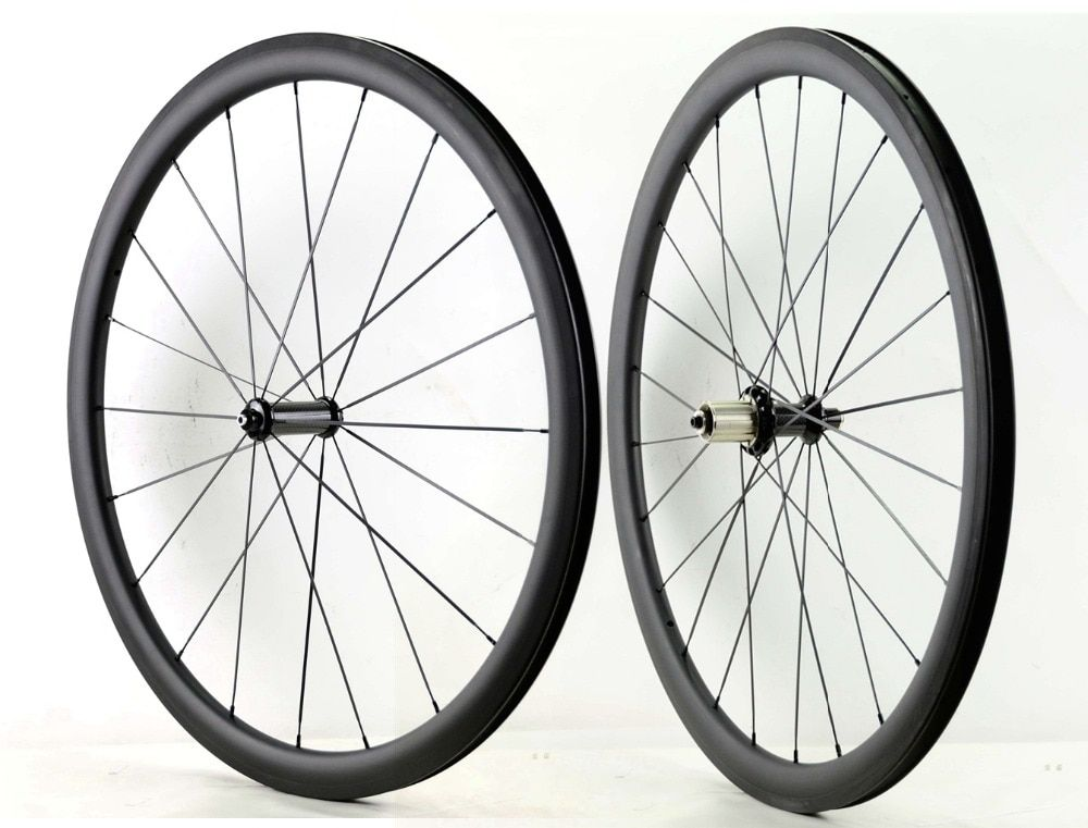 1490g!700C 38mm depth carbon wheels 23mm width Road bike clincher/tubular carbon fiber super light aero wheelset UD matte finsh