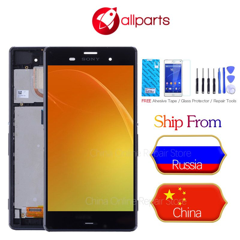 Original IPS For Sony Xperia Z3 Display Touch Screen for SONY Xperia Z3 Display LCD Dual D6633 D6603 LCD Replacement Parts