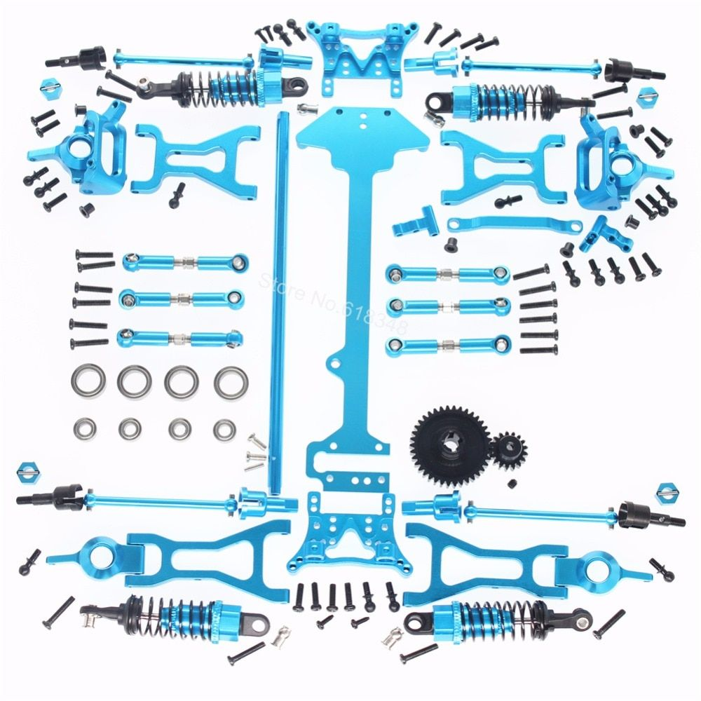 1 Set Complete Wltoys A959 Upgrade Parts Kit For Vortex 1/18 4WD Electric RC Car Off Road Buggy Metal Accessories