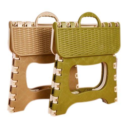 Пластик складной 6 Тип утолщаются шаг Портативный стул ребенка случайный цвет 25*18*20 см